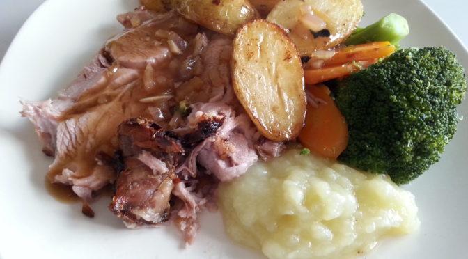 Slow roast pork