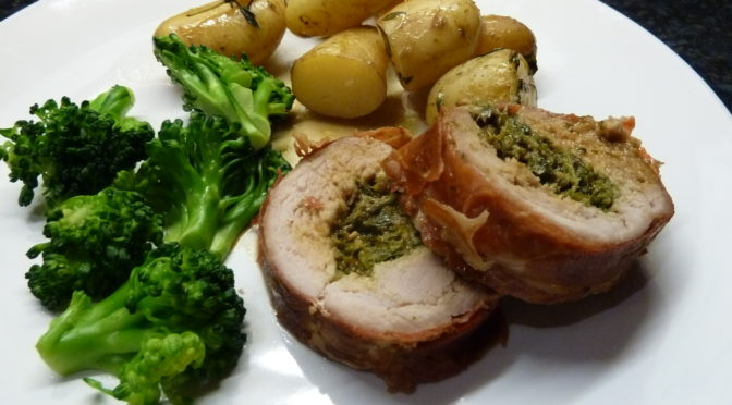 chicken stuffed with pesto