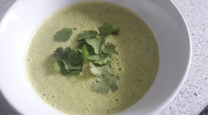 pea and courgette soup