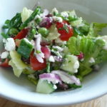Feta, pomegranate and broccoli salad